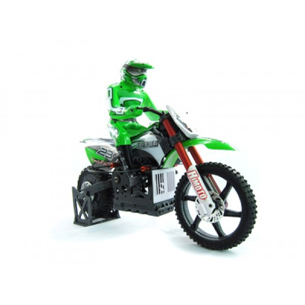 Мотоцикл 1:4 Burstout MX400 Brushed (Зеленый)