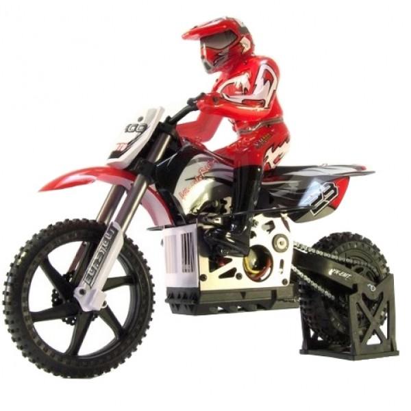 Мотоцикл 1:4 Burstout MX400 Brushed (Красный)